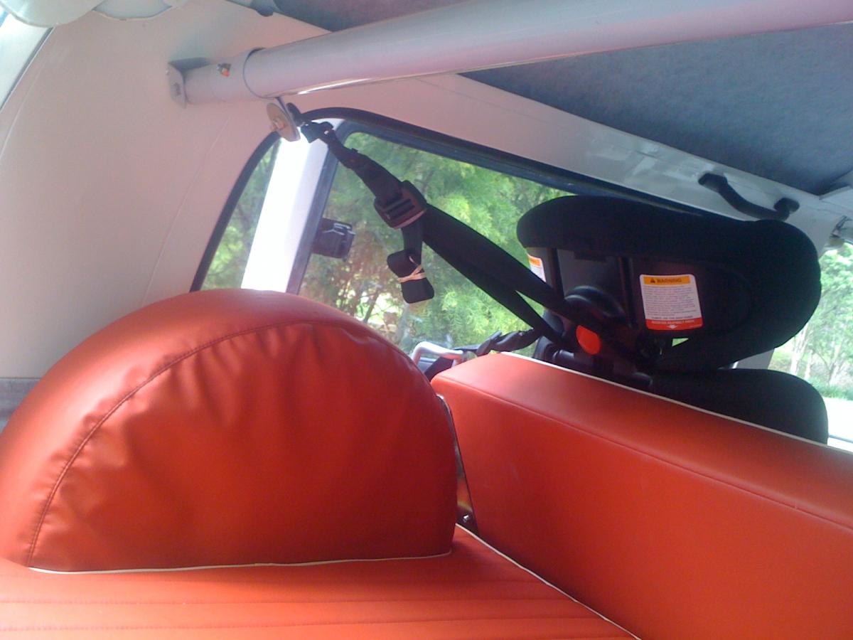 VW Kombi Crab Bar for child restraint