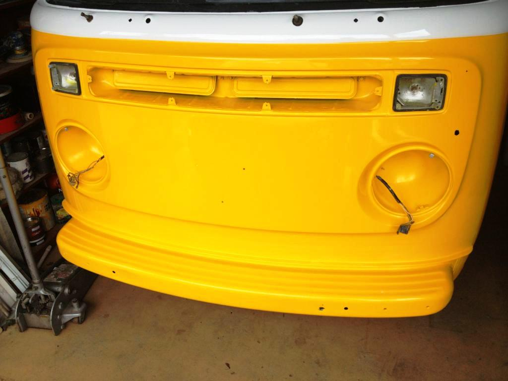Sunny Yellow Kombi in Progress