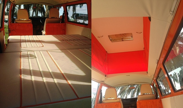 VW Kombi 1977 Orange Crush Interior headlining