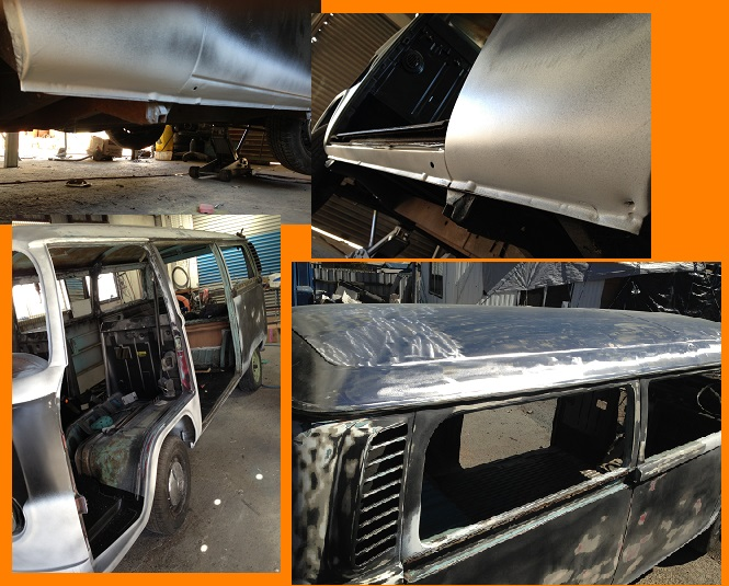 VW Kombi Black Betty repairs 2